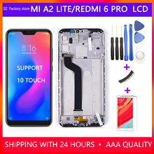 """5.84"""" Screen Replacement for Xiaomi Mi A2 Lite LCD Display & Touch Screen Digitizer Frame Assembly Set for Redmi 6 Pro"""