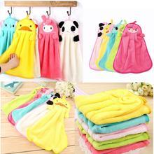 Милое мультяшное полотенце для домашнего использования детское мягкое полотенце для рук плюшевая ткань мультяшное животное подвесное полотенце для купания s для детей
