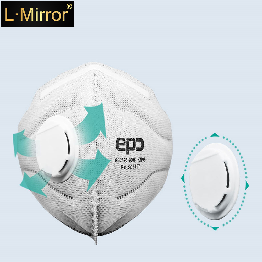 L.Mirror 1Pcs Fashion Unisex Non-woven Fabric Breath Anti-Dust Anti Pollution Mask Activated Carbon Filter Respirator Mouth-muff