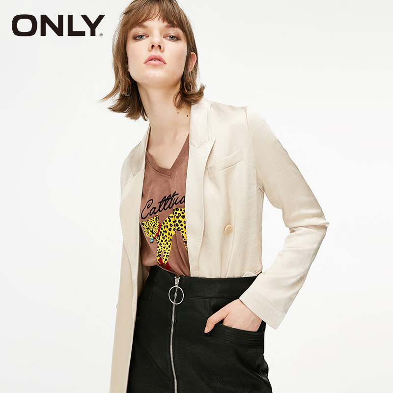 ONLY Women's Spring & Summer Double-breasted Split Suit Jacket|119108525