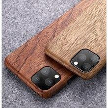 IPhone 12 11 /11 Pro/11 Pro Max ceviz abanoz gülağacı maun gerçek ahşap Vintage geri sert ince kılıf kapak