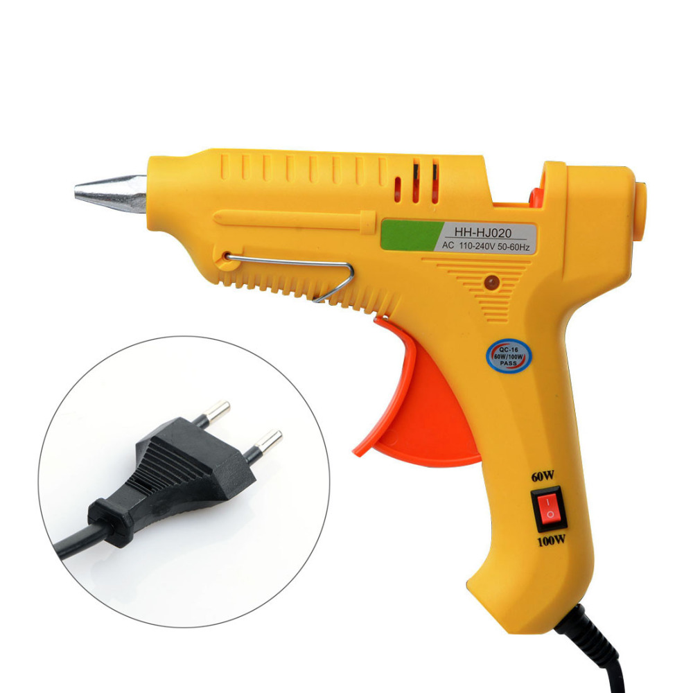 60W-100W Hot Melt Glue Gun Professional Pistolet A Colle Mini For Metal/Wood Working Stick Paper Hairpin PU Flower