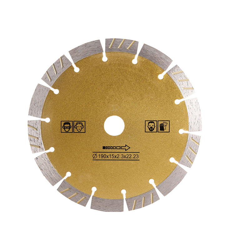 DB38 Mixed Segments Turbo Diamond Cutting Disc 8 Inch D190mm Sharp Saw Blades Without Chipping Sintered Diamond Cutter 10PCS