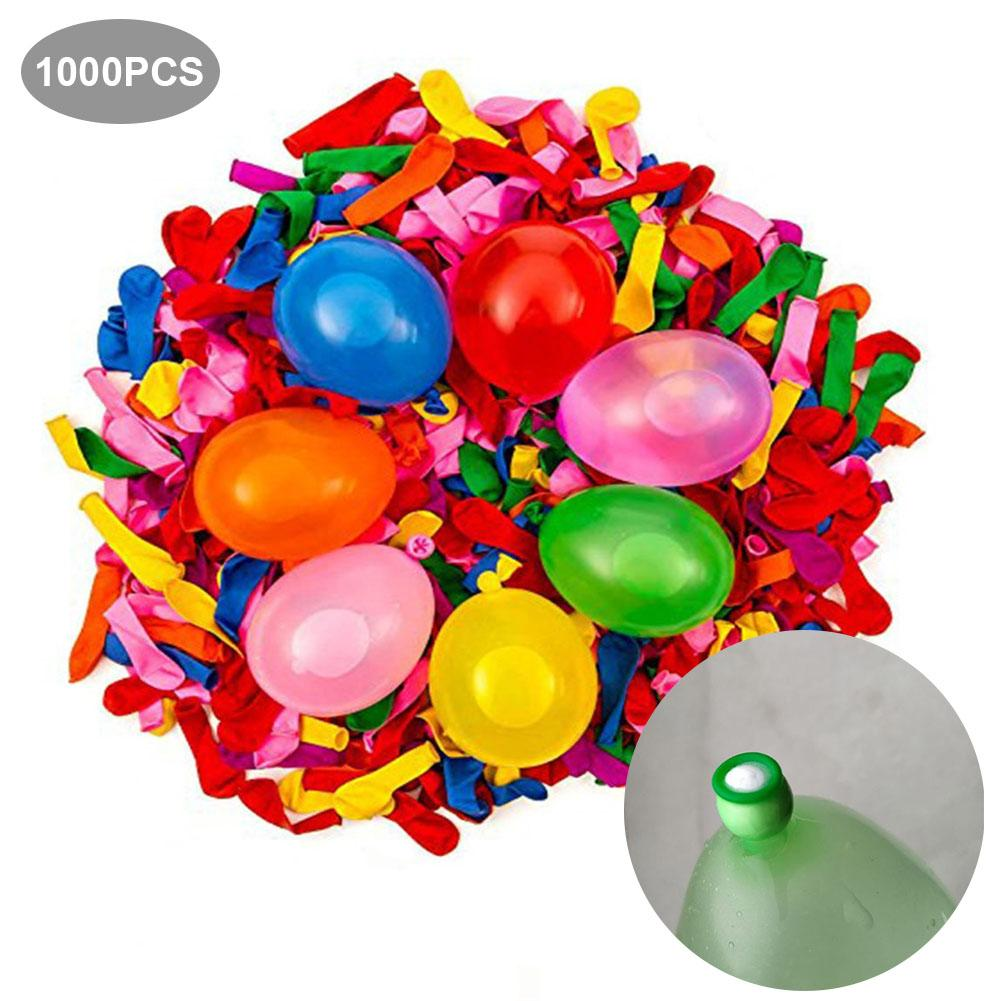 1000pcs Blow Water Ball Bubbles Blower Machine Toy Kids Soap Water Bubble Cartoon Water Gift Kids Children Manual Blower