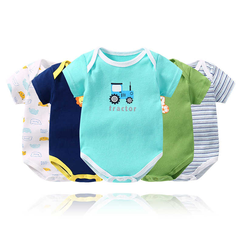 Random 5 Pcs/lot Baby Girl Boy Bodysuit bebes Cotton O-Neck Baby Costume Jumpsuit New Born baby clothes Newborn Onesie 0-24M
