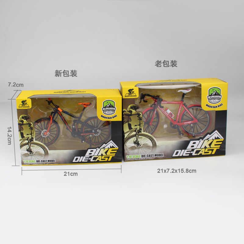 Kakbeir 1:10 Legering Fiets Model Diecast Metalen Vinger Mountainbike Racing Speelgoed Bocht Road Simulatie Collectie Speelgoed Voor Kinderen