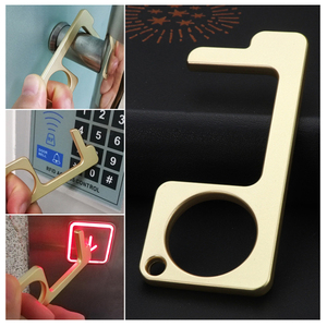 2Pcs Brass Contactless Door Op
