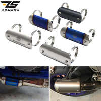ZS Racing Motorcycle Exhaust copy Carbon Protector Heat Hot Shield Cover For AK Exhaust Muffler Cover
