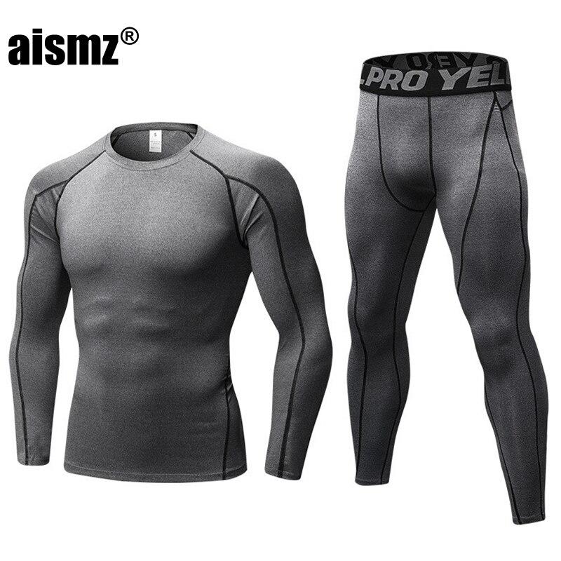 Aismz, зимние кальсоны, комплекты термобелья для мужчин, быстросохнущее, анти-микробное, стрейч, мужское термобелье, мужское теплое, для фитнес...
