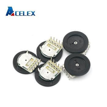 Potenciómetro dúplex de rueda de volumen cónico, Dial doble, 10 Uds., B102 B103 B203 B503 B104 1K 2K 5K 10K 20K 50K 100K 3pin 5pin 16*2mm