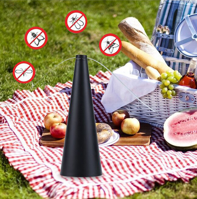 Mosquito Insects Repellent Trap Pest Fan Safe Portable Keep Flies Away Food Enjoy Outdoor For Picnic Meat Fruit Shop Summer