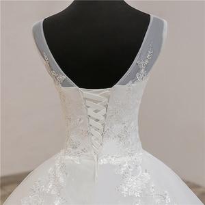 Image 5 - Fashion Classic simple V Neck Wedding Dresses Vestidos de novia Sweet Lace Applique elegant Girls Gowns Robe De Mariage 2019  8