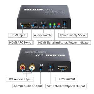 Image 4 - LiNKFOR HDMI 2.0 오디오 추출기 지원 4K 60Hz YUV 4:4:4 HDMI 변환기 어댑터 HDR HDMI 광학 TOSLINK SPDIF 오디오