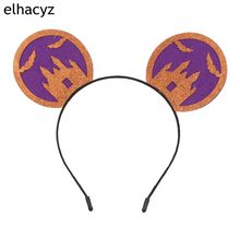 1PC New Halloween Festival 3.3 Minnie Kids Mouse Ears Hairband DIY Boutique Hair Accessories