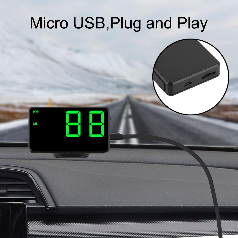 cheapest LEEPEE Car Head Up Display Digital Car GPS Speedometer Speed Display Big Fonts LED Display