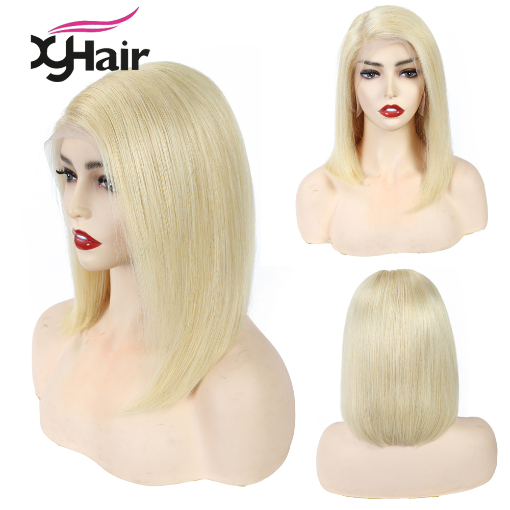 613 Blonde Brazilian Straight Human Hair Bob Wigs 8 - 14 Inch Remy Short Ombre Bob Lace Front Wigs For Black Women
