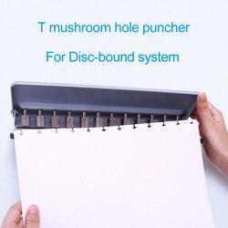 Perforadora de seta 12 agujeros perforadora disco encuadernado cuaderno y revistas accesorios A4/A5/A6/A7/B5 Happy Planner suministros de encuadernación