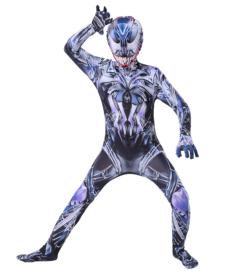 Image 5 - Kids Venom Costume Boys cosplay Superhero Venom Spiderman Costumes suit Jumpsuit Bodysuit Halloween Costume For Adult Children