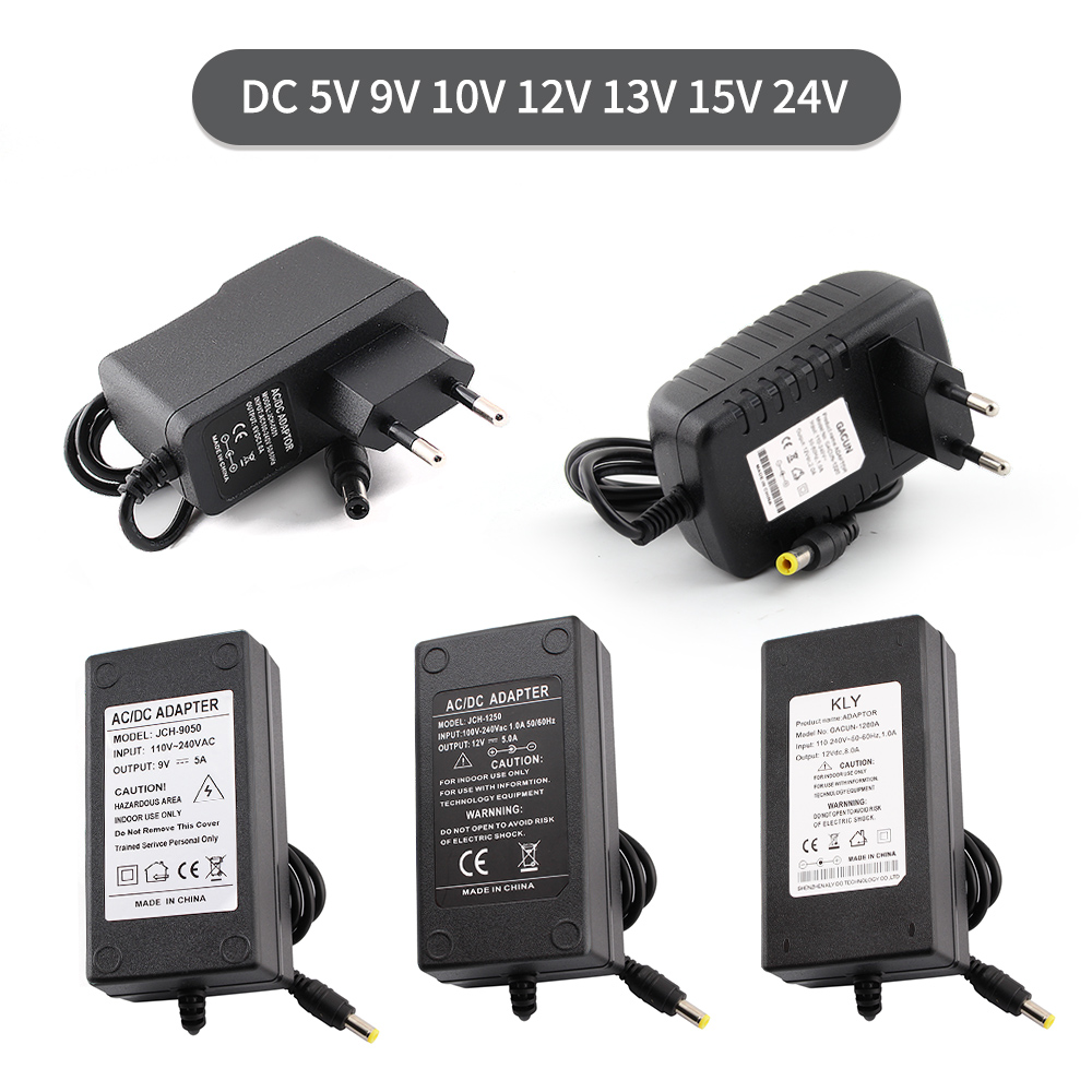 AC DC 5V 24V 12V Power Supply <font><b>5</b></font> 9 12 24 <font><b>V</b></font> 1A 2A 3A <font><b>5A</b></font> Transformers 220V To 12V 5V 24V Power Supply 6V 8V 9V 13V 15V Led Driver image