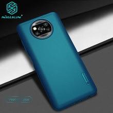 ل شاومي Poco X3 برو حالة Nillkin سوبر متجمد درع الصلب ماتي غطاء ل Poco X3 NFC ساعة مع تصميم نقطة البارزة
