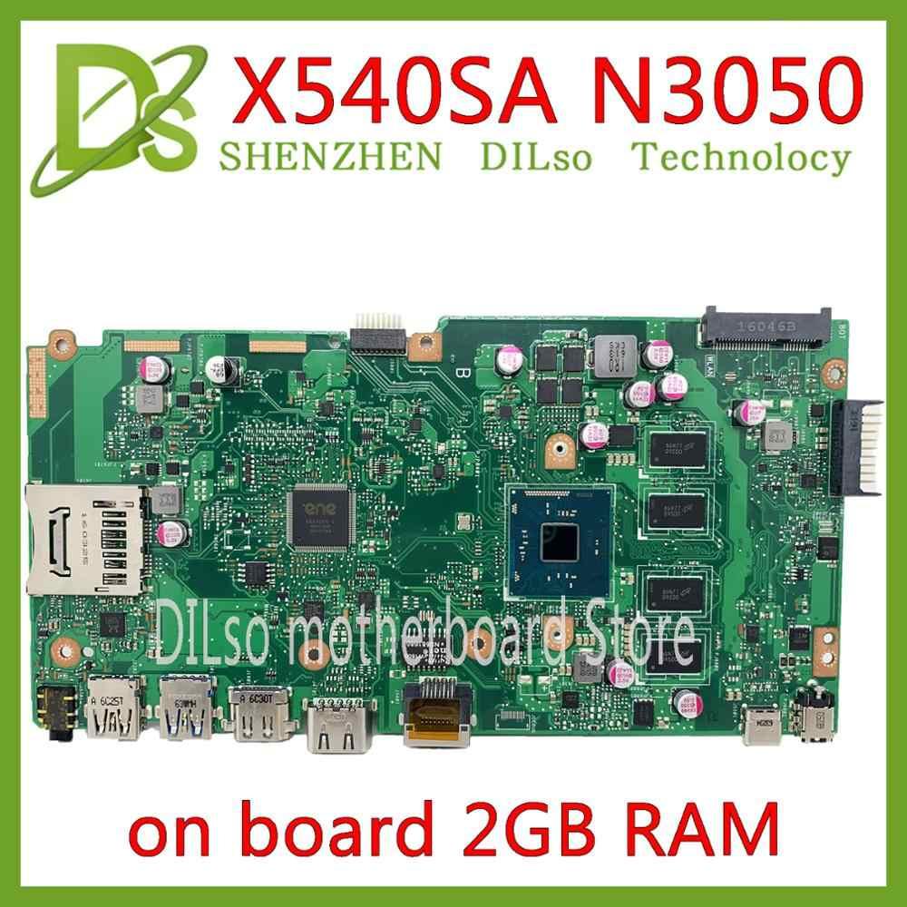 Placa base KEFU X540SA apta para ASUS X540SA X540 X540S N3050 CPU Laptop placa base 2GB RAM prueba placa base trabajo 100%