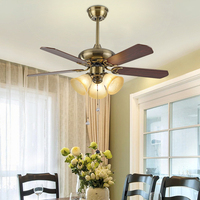 220V  ventilador de Control remoto  lámpara de cristal  moderno comedor  dormitorio  lámpara Led de madera  decoración del hogar  ventilador  luces de 110V