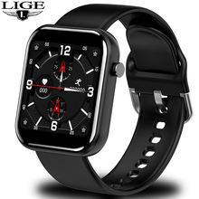 LIGE LED Color full screen touch Sport Smart Watch Men Women Heart rate blood pressure monitor Smartwatch for Android and iphone недорого