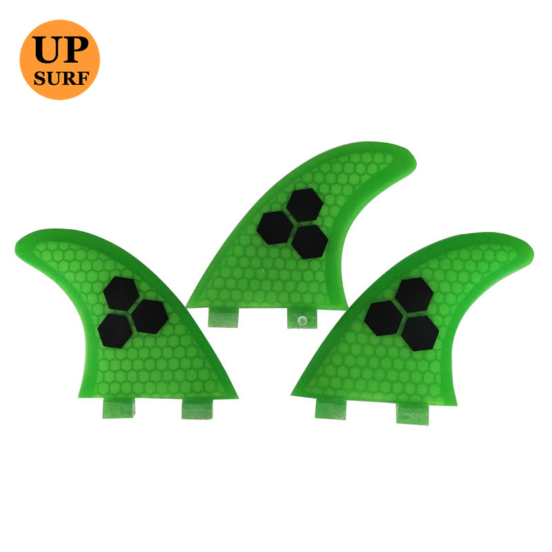 FCS Fin G3/G5/G7 Surf Boards Fins FCS G5 3PCS Pure Color With Logo Green Per Set Surfing Fin Quilhas  Thruster