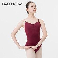 Ballet práctica leotardo traje de baile femenino Sling Dance negro leotardo Adulto niñas gimnasia malla bailarina 5078