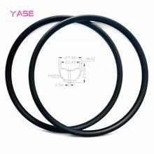 YASE 29er Углеродные Диски для горных велосипедов обод 27,4x24 мм Асимметричная бескамерная велосипедный Руль стальной диск MTB Диски ERD 594 мм 345 г