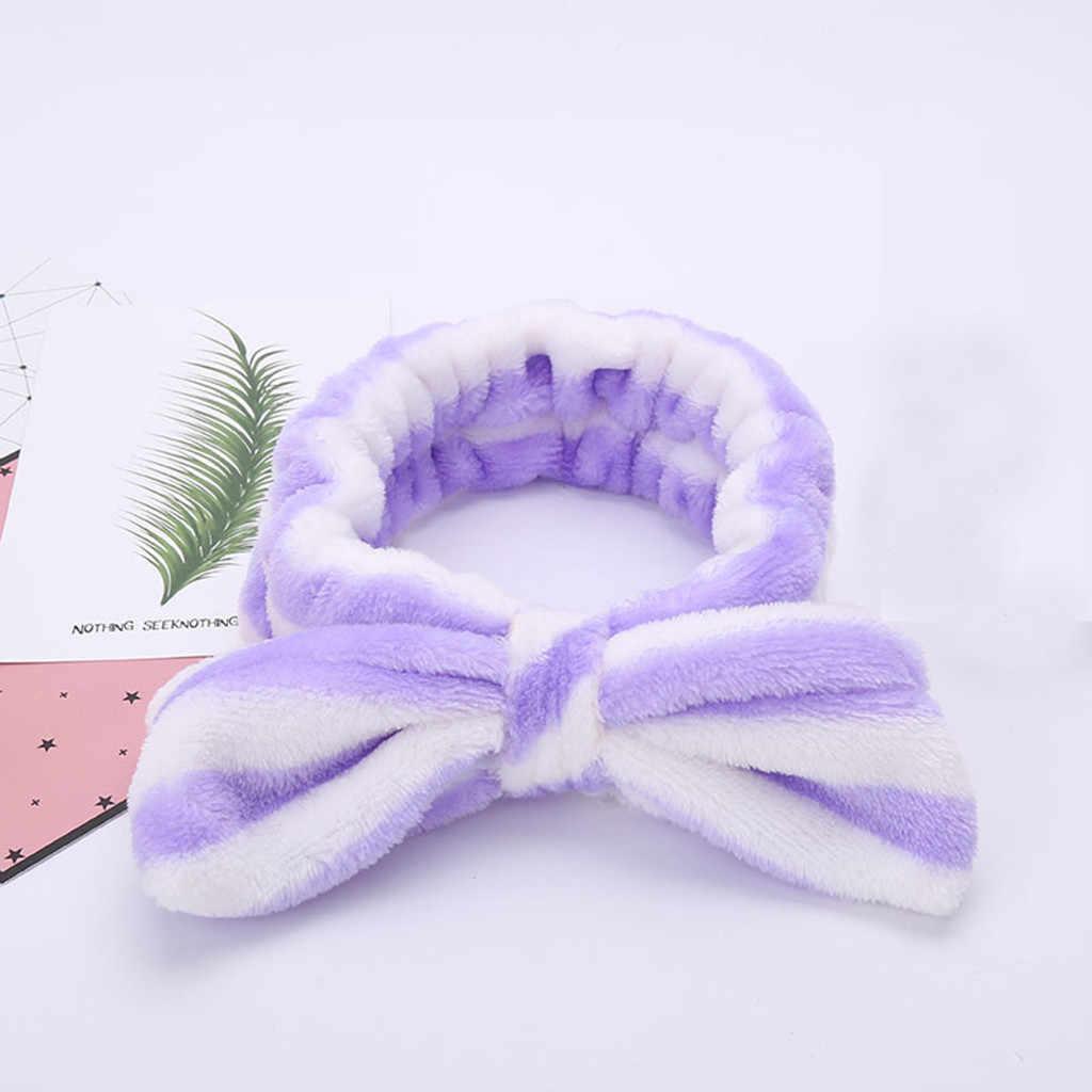 Kadın elastik Hairband Band yay düğüm sevimli kafa güzel saç aksesuarları bayanlar Twisted bayan makyaj bandı elastik şapkalar