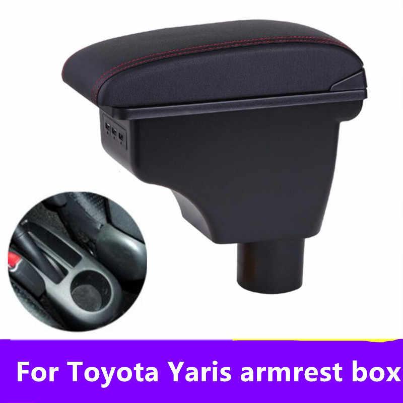 Toyota Yaris Vitz Vios Hatchback 용 팔걸이 암 2011-2019 센터 콘솔 보관함 2012 2013 2014 2015 2016 2017 2018 2019