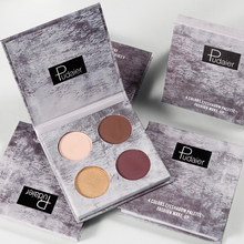 Pudaier 4 Colors Glitter Eyeshadow Pallete Shadows Pigment Palette of Shadows Shimmer Eyeshadows Makeup Cosmetics Eyes Makeup silver shadows