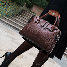 [BXX] Crocodile Pattern Handbag For Women 2020 Autumn PU Lea