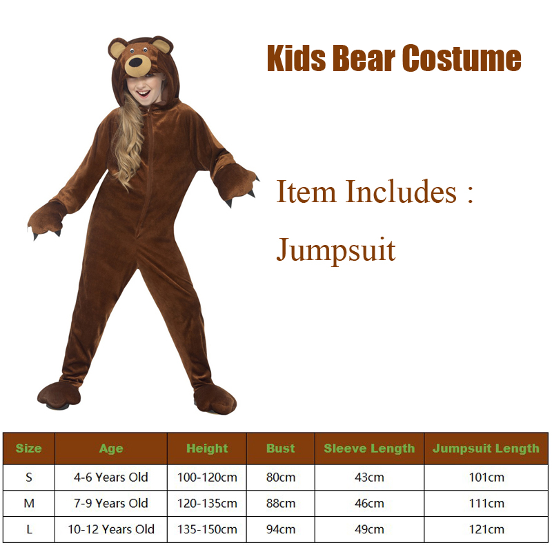 Snailify 2021 New Arrival Bear Costume Girls Halloween Costume For Kids Animal Boys Costume For Party Purim Carnival 3