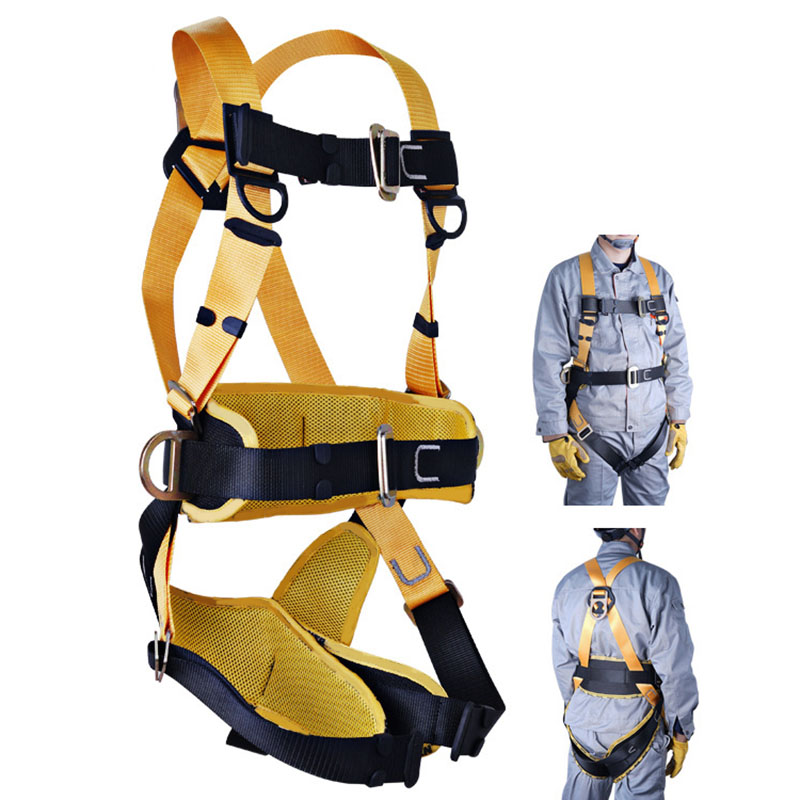 Adjustable Aerial Work Safety Belt Five-Point Safety Fall Protection Belt Camping Climbing Rope Construction Work Safety Belt