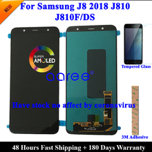 100%  AMOLED OLED LCD Screen For Samsung J8 2018 LCD J810 LCD For Samsung J8 2018 J810 LCD Screen Touch Digitizer Assembly