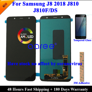 Image 1 - 100%  AMOLED OLED LCD Screen For Samsung J8 2018 LCD J810 LCD For Samsung J8 2018 J810 LCD Screen Touch Digitizer Assembly
