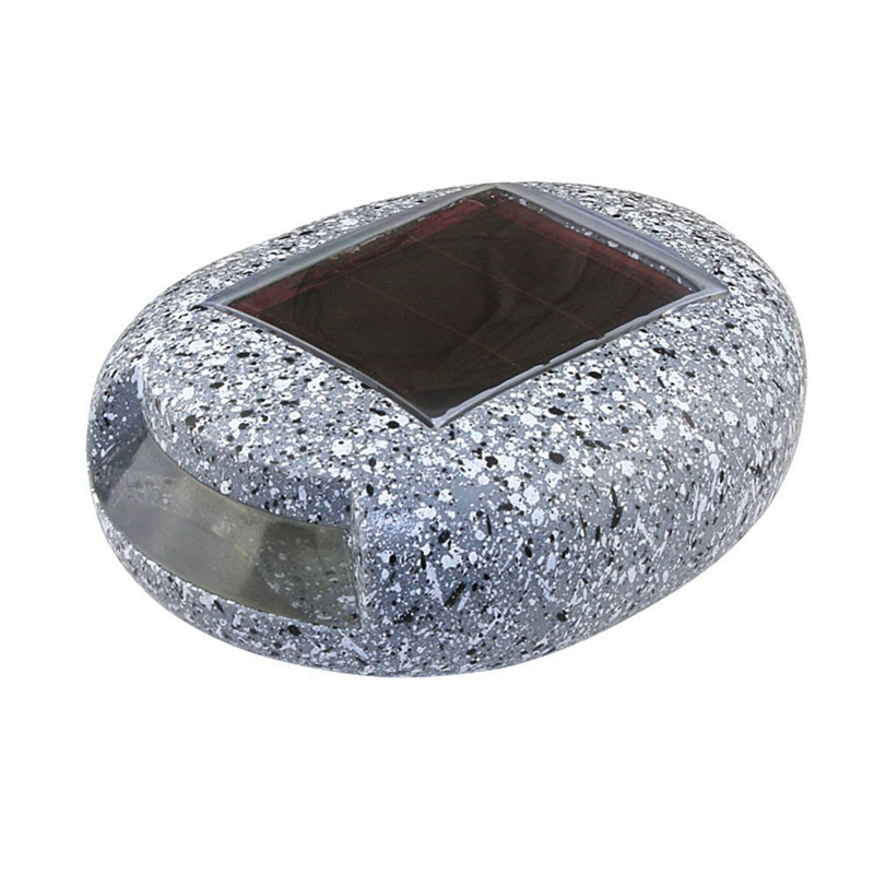 2Pack Outdoor Garden LED Solar Decorative Rock Stone Spot Lights Lamp Yard