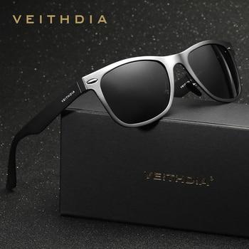 VEITHDIA Brand Designer Classic Sunglasses Men Polarized Square Sun Glasses Eyeglasses oculos de sol For Men veithdia polarized sunglasses men new arrival brand designer sun glasses with original box gafas oculos de sol masculino 6589
