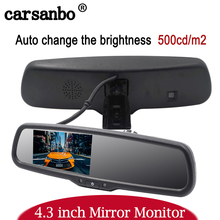 "4.3"" TFT LCD Car Windscreen Interior Mirrors Rearview Mirror Monitor with Special Original Bracket For Kia Hyundai Ford VW"