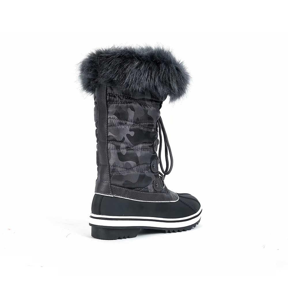 Maxmuxun Frauen Schnee Stiefel Spleißen Spitze Wasserdichte Non Slip Schuhe Plus Warme Stiefel