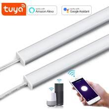Bombilla Led inteligente para armario de cocina, lámpara con WIFI, asistente de hogar, Compatible con Alexa, luces de barra regulables de Google, 30cm, 40cm, 50cm