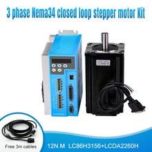 3 Phase Nema34 220V 150V ~ 230VAC 12N.M 86mm 1000rpm Servo Schritt Geschlossen Schleife Motor Stepper stick Kit für Automatische CNC Maschinen