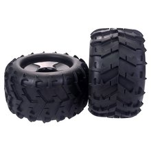 цена на 2PCS 17mm Hub Hex Wheel Tires for 1/8 Redcat Hsp Kyosho Hobao Hongnor Team Losi GM DHK HPI Truggy Monster Truck Truggy