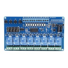 8-36V 8-Channel Multifunction Time Delay Relay Interface Board Module Optocoupler LED Bistable Relay(China)