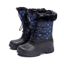 Buy 2019 New Arrival Kids Snow Boots Winter Plush Warm Rubber Boots For Children's Shoes Water Repellent Antislip For Girls boys directly from merchant!