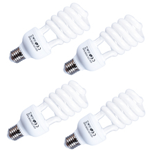 E27 45W x 4 PCS Video Licht Foto Studio Lampen 110 240V 5500K Weiß Fotografie Licht tageslicht Lampe Fotografie Beleuchtung