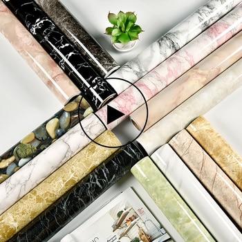 Papel tapiz de mármol impermeable para sala de estar, mueble de escritorio...