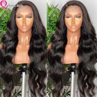 Queena brasileña peluca recta con el pelo del bebé Remy del pelo humano del frente del cordón pelucas Pre arrancado nudos blanqueados parte libre Natural negro